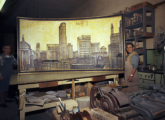 Seichi Tsuchiya With Bernard Buffett Painting At Aberdeen Frame