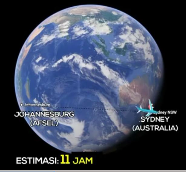 Johanesburg-Sidney-Peta-bumi-Globe