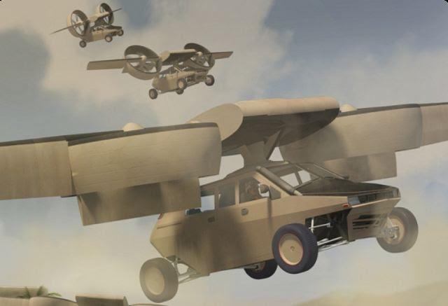 """Un nuevo proyecto de Lockheed Martin y de la Agencia de Proyectos de Investigación Avanzada de Defensa o DARPA, incluye un """"coche"""" volador que será un híbrido de un vehículo blindado y un helicóptero. Transformador TX no puede viajar atrás en el tiempo - que sabemos - pero el vehículo podría estar listo para la prueba tan pronto como en el 2015, de acuerdo con funcionarios de Lockheed."""