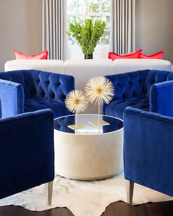 Royal Blue Chairs - Contemporary - living room - Martha O ...
