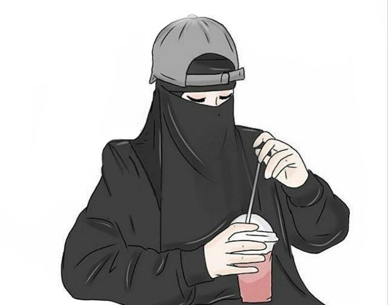 Top Gambar Kartun Muslimah Pakai Niqab  Design Kartun.