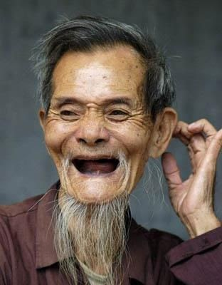 Old Asian Man Mustache