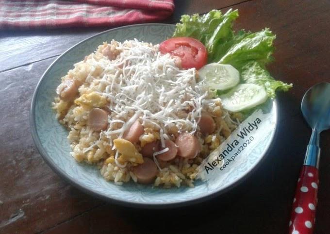 Cara Mudah Memasak Nasi Goreng Sosis Keju Anti Gagal