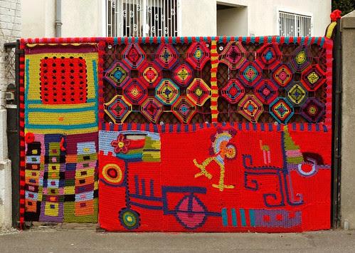 Street Art Crochet Kaleidoscope by Florence Baudry