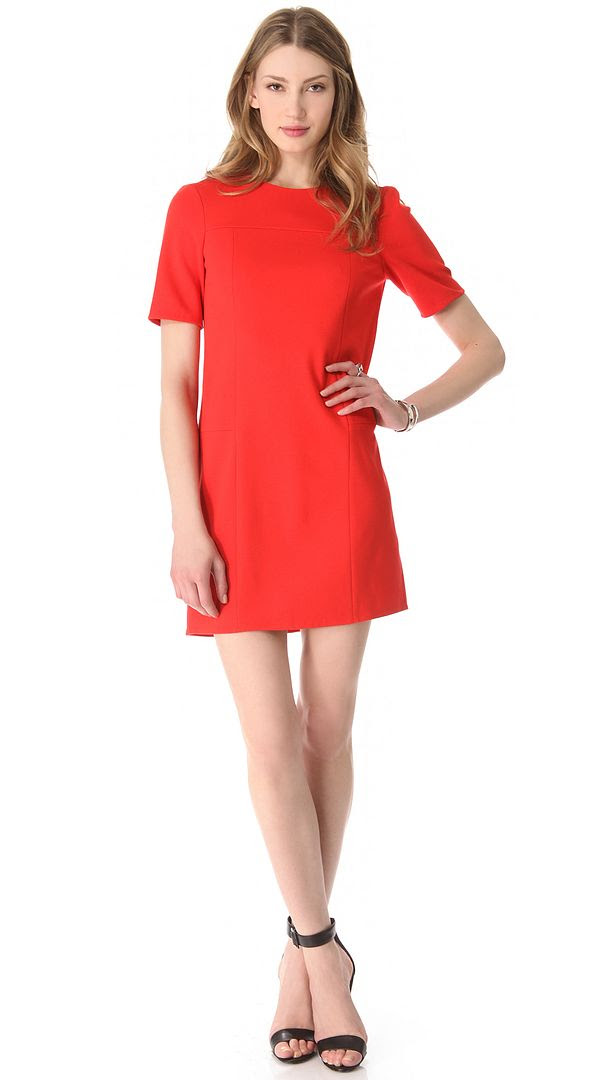 Tibi Short Sleeve Ponte Dress