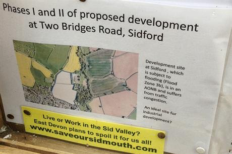 Sidford: local plan proposals have sparked local controversy (picture by Alan Parkinson, Flickr)