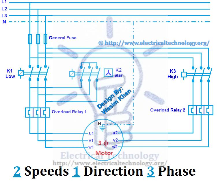 3 Phase 2 Speed Motor Wiring Diagram Pdf