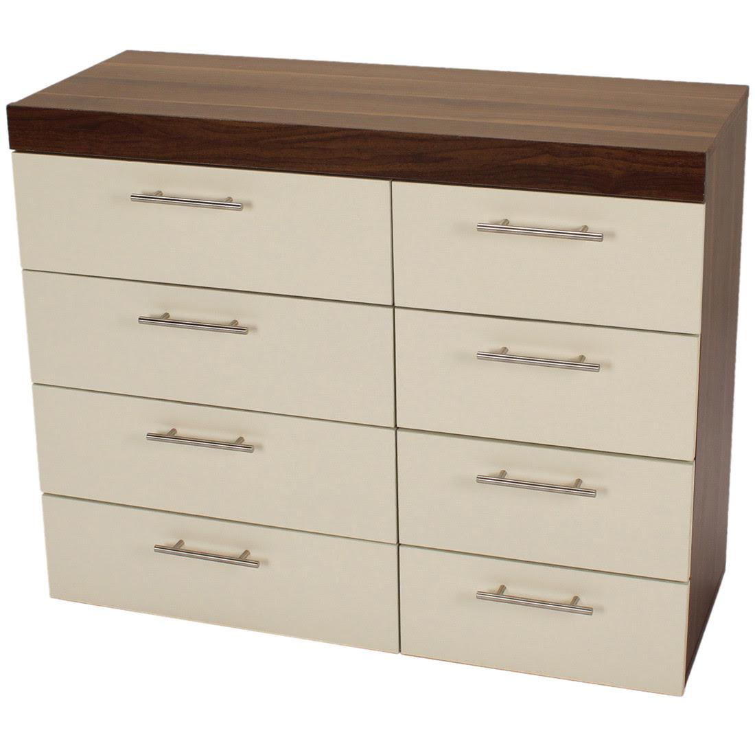 Brooklyn Bedside Cabinet 8 Drawer Chest 2 Door Wardrobe ...