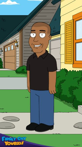 An animated version of myself if I was a character on the FOX TV show FAMILY GUY.