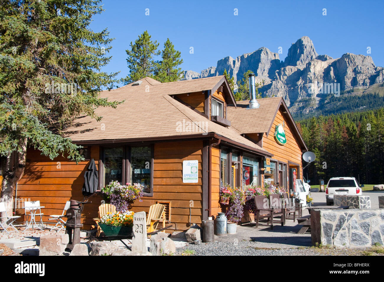 Castle Mountain Chalets and Shop Banff Alberta Canada