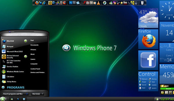 8 best custom windows 7 visual themes for january 2012.