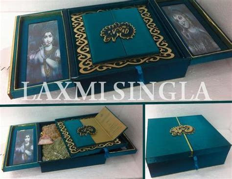Design Wedding Cards Box at Rs 750 /piece   Decorative