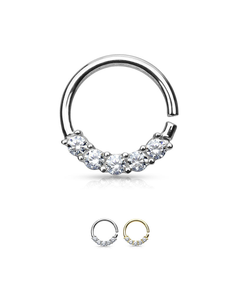 14kt Solid White Or Yellow Gold Nose Ring Hoop 38 16g