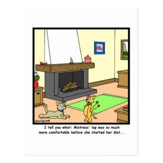 Diet: Cat Cartoon Postcard