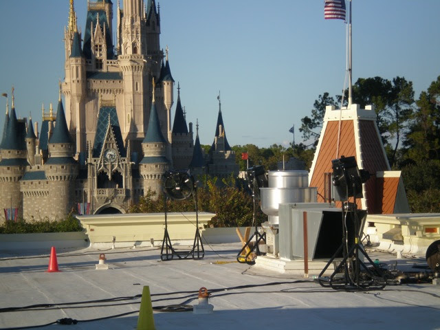 snow machines for Mickey's Very Merry Christmas Party