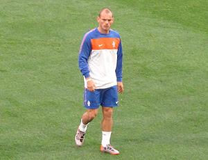 sneijder no treino da holanda na cidade do cabo