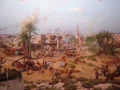 Pertunjukan interaktif di dalam Memorial 6 Oktober, Kaherah, Mesir