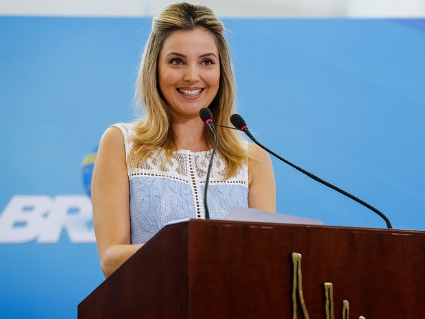 Primeira-dama Marcela Temer durante cerimônia de Lançamento do Programa Criança Feliz no Palácio do Planalto (Foto: Carolina Antunes/PR)