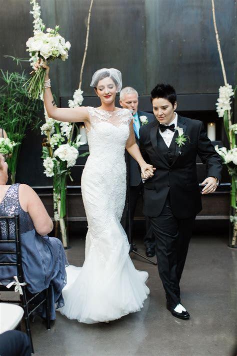 Same Sex Bride & Bride   A Vintage Inspired City Wedding