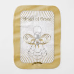 Gold Metallic Filigree Christmas Angel of Grace Baby Burp Cloth