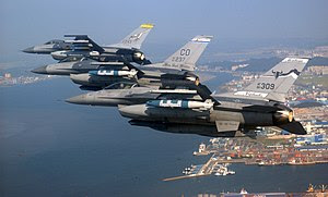 Air National Guard F-16 Fighting Falcon fighte...