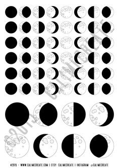 NEW! Moon Phase Planner Stickers | Planners, New moon and Messages