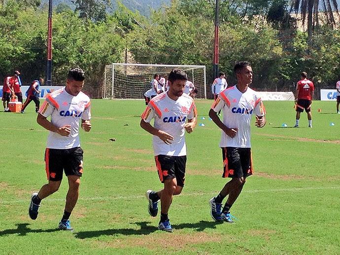 Treino do Flamengo (Foto: Cahê Mota)