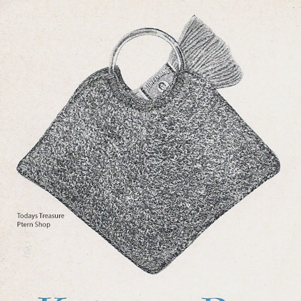 Crocheted Utility bag pattern with round handles