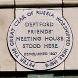 Peter the Great plaque