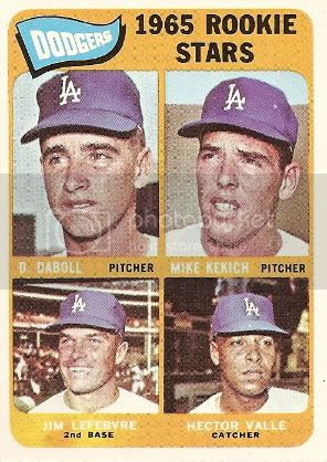 #561 Dodgers Rookie Stars: Dennis Daboll, Mike Kekich, Jim Lefebvre, and Hector Valle