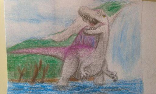 Dibujo De Dino Rey Amino Paleontología Amino