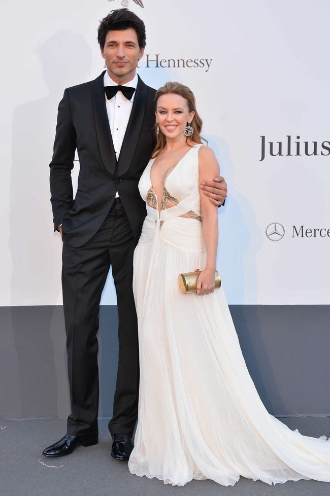 6 Kylie Minogue and Andres Velencoso in Roberto Cavalli@amfAR 2013 in Cannes 2013-05-23