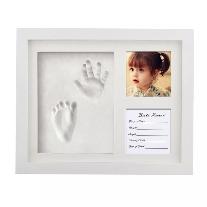 Wooden Picture Frames For Photo Baby Hand And Foot Prints Inkpad
