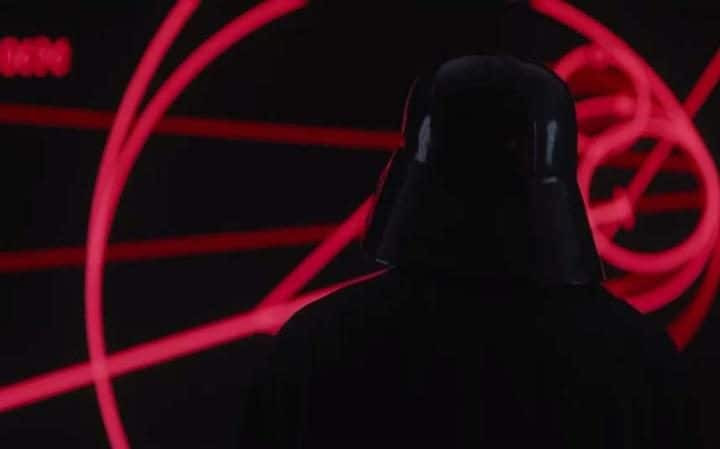 Darth Vader, seen here in the new Rogue One trailer.