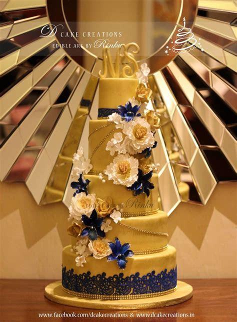 5 Tier Floral Golden Cake   CakeCentral.com