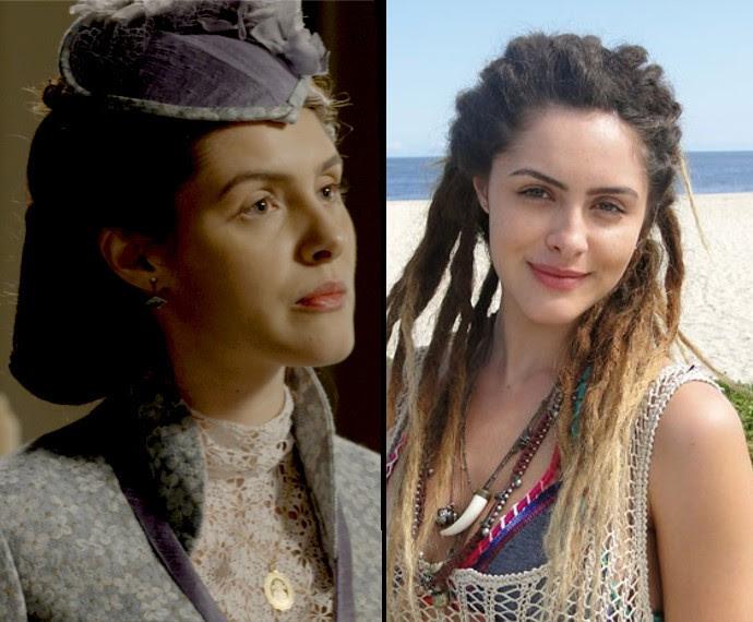À esquerda, Elisa na pele de Berenice, e à direita como a vilã Valentina (Foto: TV Globo)