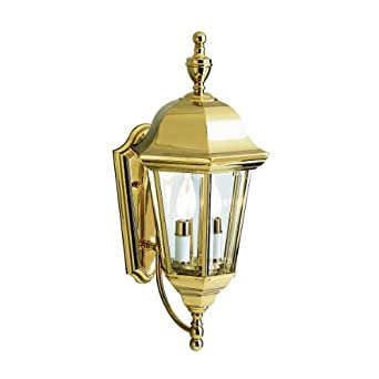 Amazon.com: Kichler Lighting 9439PB LifeBrite 2-Light Outdoor Wall