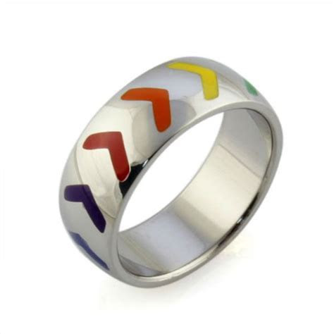 Inexpensive Gay Pride Wedding Rings (Or Engagement Rings