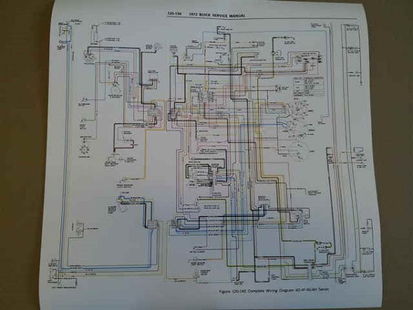 1970 71 72 Wiring Diagrams Easy To Read Poster Size V8buick Com