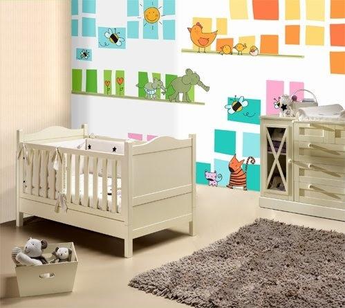 Papel pintado para habitacion bebe - Decopraktik barcelona ...