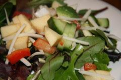 black radish on salad