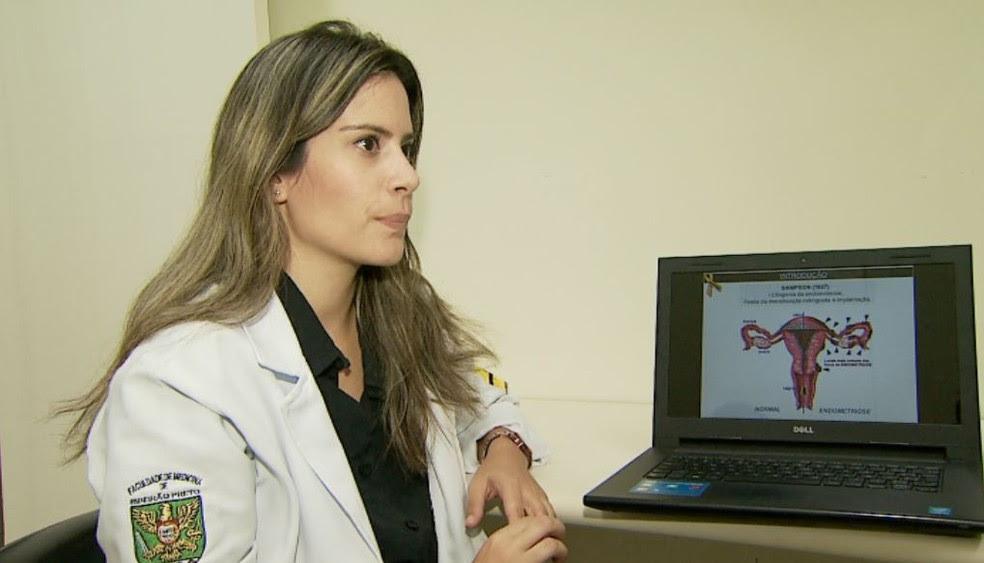 Vanessa Silvestre Innocenti Giorgi, responsável pela pesquisa sobre endometriose na USP em Ribeirão Preto (Foto: Reprodução/EPTV)