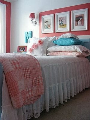 Charming Girls Room with Raspberry Colored Accents - Design Dazzle