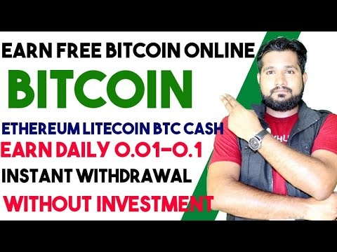 Earn Free Bitcoin Daily - 0.001 BTC A Day And Ethereum - Quickly Earning Trick, Faucet Crypto