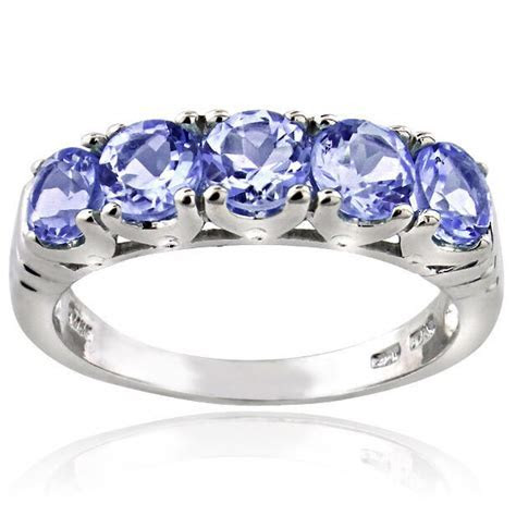 RARE MENS WOMENS TANZANITE ETERNITY WEDDING BAND RING SZ 5