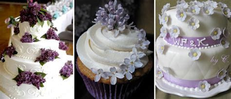 Lilac Flowers   Cakes and Cupcakes