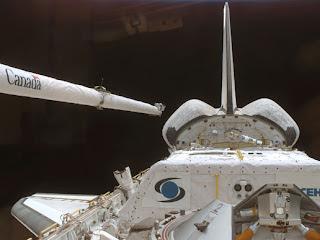 El Discovery acoplado a la ISS