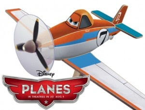 Dusty, The Disney Plane, to promote free stuff for kids to do at Lowe's