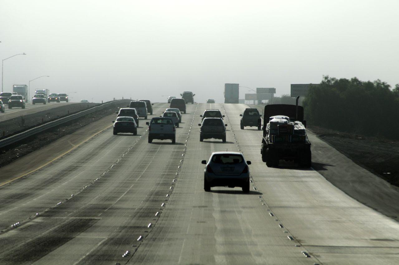 Freeway and fog