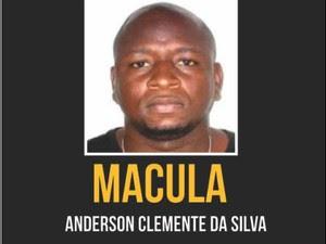 Anderson Clemente da Silva, presidente de uma torcida organizada do Flamengo, é suspeito de matar um torcedor do Botafogo (Foto: Divulgação/ Disque Denúncia/RJ)